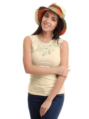Шляпа Moltini. Цвет: оранжевый