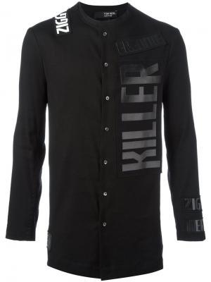 Рубашка с принтом-логотипом Tom Rebl. Цвет: чёрный