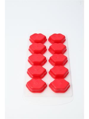 Форма для льда пластик + силикон, 15х8см, 2 вида Vetta. Цвет: красный