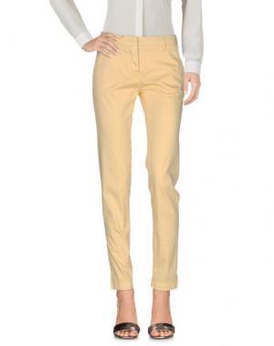 Повседневные брюки PERFECTION. Цвет: светло-желтый