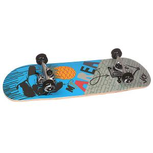 Скейтборд в сборе детский  Cool Pineapple Blue 28 x 8 (20.3 см) Fun4U. Цвет: мультиколор