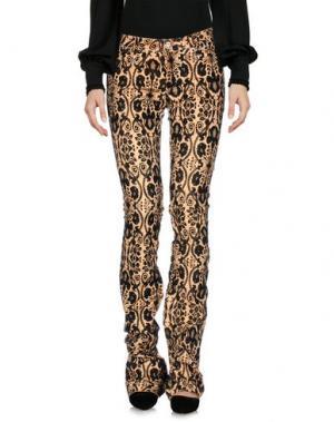Повседневные брюки LEROCK. Цвет: абрикосовый