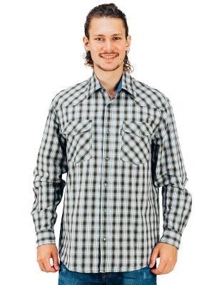 Рубашка Westrenger. Цвет: серый, зеленый, коричневый