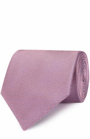 Шелковый галстук с узором Ermenegildo Zegna. Цвет: розовый