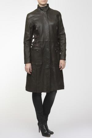 Пальто 3/4 Rindi. Цвет: коричневый