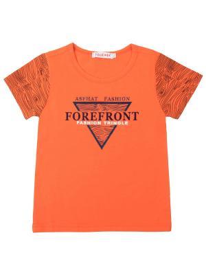 Футболка 7 одежек. Цвет: оранжевый