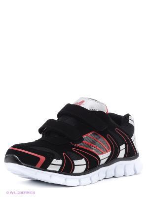 Кроссовки Ascot. Цвет: черный, серый, красный