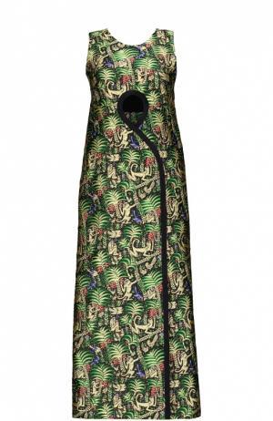 Платье Delpozo. Цвет: зеленый