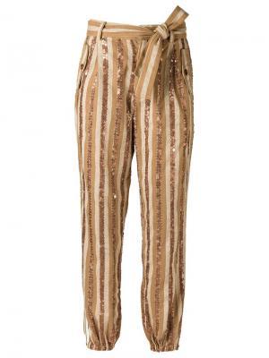 Embroidered trousers Isabela Capeto. Цвет: телесный