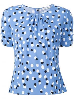 Блузка в горох Altuzarra. Цвет: синий