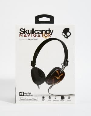 Skull Candy Наушники с микрофоном Navigator. Цвет: коричневый