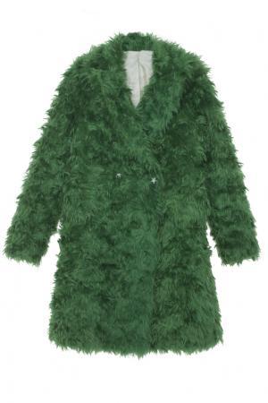 Пальто из мохера Luda Nikishina. Цвет: зеленый