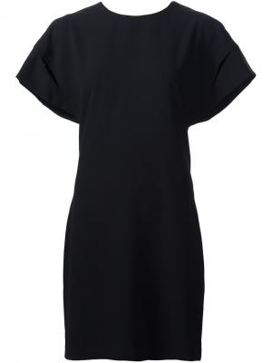 Платье с драпированными деталями Iro. Цвет: чёрный