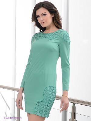 Платье EZANNA. Цвет: зеленый