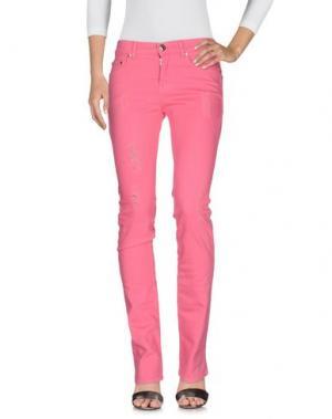 Джинсовые брюки BLU BYBLOS. Цвет: фуксия