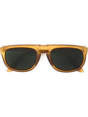 Солнцезащитные очки с квадратной оправой Issey Miyake Vintage. Цвет: коричневый