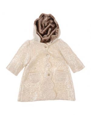 Пальто LA STUPENDERIA. Цвет: слоновая кость