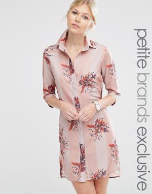 Alter Petite Полосатая ночная сорочка с цветочным принтом. Цвет: мульти
