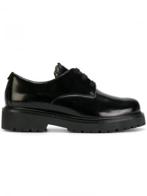 Ботинки со шнуровкой и толстой подошвой Twin-Set. Цвет: чёрный