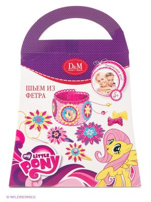 Набор для создания аксессуаров Флаттершай My Little Pony Делай с мамой. Цвет: розовый, белый, фиолетовый