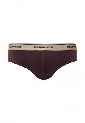 Трусы Dsquared Underwear. Цвет: бордовый