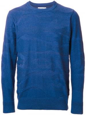 Толстовка с камуфляжным узором Hbns. Цвет: синий