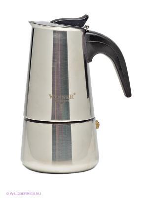 Гейзерная кофеварка Winner. Цвет: серебристый