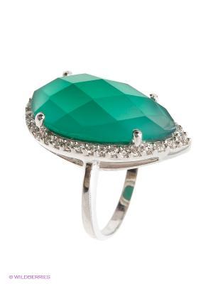 Кольцо BALEX. Цвет: темно-зеленый, серебристый