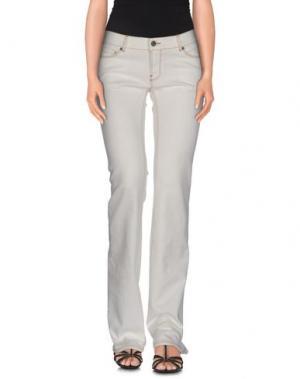 Джинсовые брюки VINTAGE 55. Цвет: слоновая кость