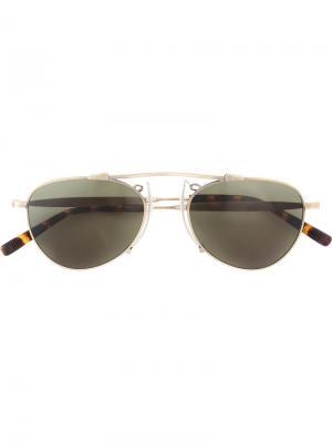 Солнцезащитные очки авиаторы Matsuda. Цвет: коричневый