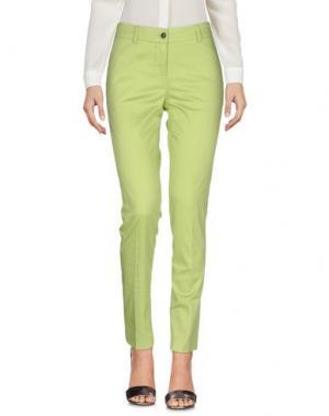 Повседневные брюки FABRIZIO LENZI. Цвет: светло-зеленый