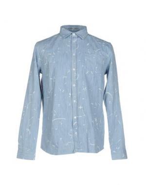 Джинсовая рубашка LIBERTINE-LIBERTINE. Цвет: синий