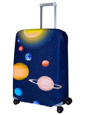Чехол для чемодана Solar M/L Coverway. Цвет: темно-синий