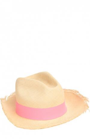 Шляпа пляжная Artesano. Цвет: розовый