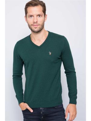 Пуловер U.S. Polo Assn.. Цвет: темно-зеленый