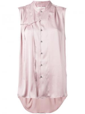 Блузка с завязками A.F.Vandevorst. Цвет: розовый и фиолетовый