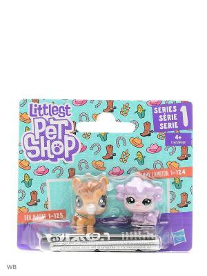Набор два пета Littlest Pet Shop. Цвет: сиреневый, горчичный