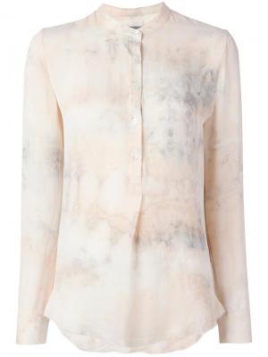 Рубашка с узором тайдай Raquel Allegra. Цвет: телесный
