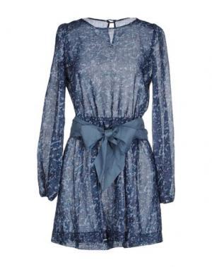 Короткое платье LA CAMICIA BIANCA. Цвет: грифельно-синий