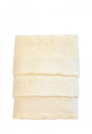 Комплект полотенец 3 шт. La Pastel. Цвет: бежевый
