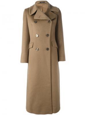 Длинное пальто Britta Tagliatore. Цвет: телесный