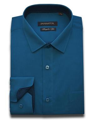 Рубашка Imperator. Цвет: темно-синий