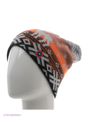 Шапка Marhatter. Цвет: оранжевый, темно-серый