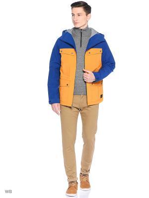 Куртка Quiksilver. Цвет: оранжевый, синий