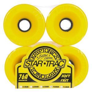 Колеса для скейтборда лонгборда  Star Trac Yellow 76A 70 mm Kryptonics. Цвет: желтый