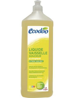Средство для мытья посуды с уксусом, 1 л. Ecodoo. Цвет: прозрачный, светло-коричневый