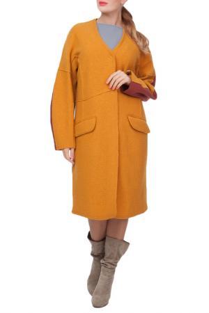 Пальто Woolhouse. Цвет: горчичный, коричневый
