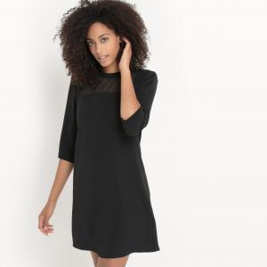 Платье с длинным рукавом SUD EXPRESS. Цвет: черный