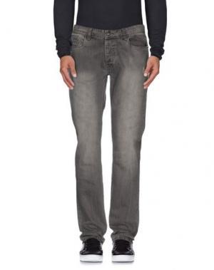 Джинсовые брюки YES ZEE BY ESSENZA. Цвет: серый