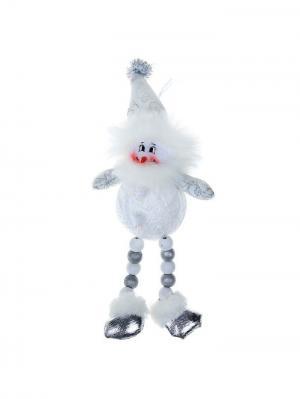 Мягкая игрушка-подвеска Снеговик, 23,5 см А М Дизайн. Цвет: серебристый